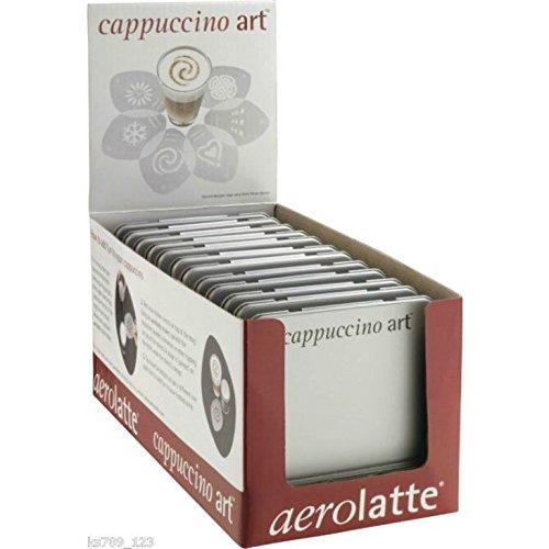 Eddingtons Aerolatte Stencil Arte Cappuccino Per Cioccolata Calda O Caffè (Confezione da 4)