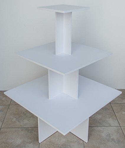 Dila GmbH Pyramidentisch Chicago 90x90 cm weiß