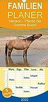 Henson - Pferde der Somme Bucht - Familienplaner hoch (Wandkalender 2022 , 21 cm x 45 cm, hoch): Traumhafte Fotos von goldenen Henson Pferden aus der Picardie (Monatskalender, 14 Seiten )