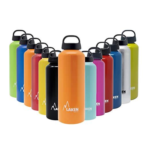 Laken Unisex - Adulto Classic Alluminio Arancione 1 Litro, BPA Free Alluminio Bottiglia PBA