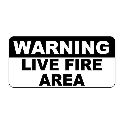 Señal de advertencia en vivo para zona de fuego, estilo retro, vintage, personalizada, de aluminio, para pistola de propiedad,...
