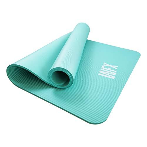 #DoYourFitness XXL Tappetino da Ginnastica »Ashanti« / Spesso e Morbido, Ideale per Pilates, Ginnastica e Yoga, Dimensioni: 190 x 100 x 1,0cm / Turchese