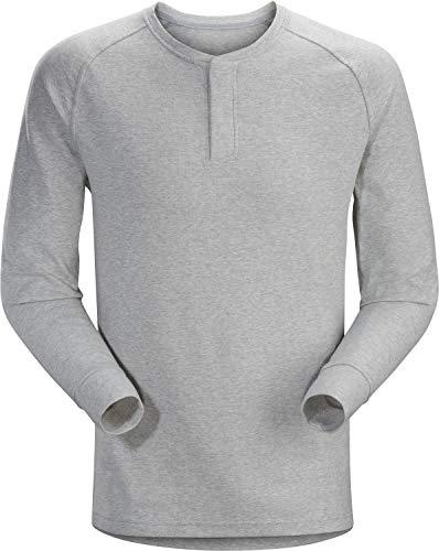 Arc'teryx Sirrus Ls Henley Men's T-Shirt à Manches Longues Homme, Gris chiné (delos Grey Heather), XL