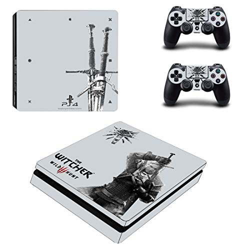 Adventure Games - PS4 SLIM - Witcher 3 - Playstation 4 Vinyl Console Skin Decal Sticker + 2 Controller Skins Set