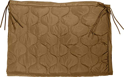 Rothco Enhanced G.I. Type Rip-Stop Poncho Liner with Zipper (Coyote Brown, 62' X 82')