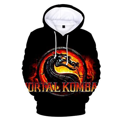 ZSJSS Sweat à Capuche pour Hommes Mortal Kombat 11 Sweat à Capuche imprimé en 3D Sweat à Capuche décontracté Cosplay Sweatshirt extérieur Hoodies-Style_100