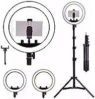 "Kit Completo Ring Light 14"" 35cm com Tripé grande profissional"