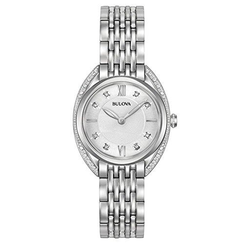 Bulova Reloj Analógico para Mujer de Cuarzo con Correa en Acero Inoxidable 96R212