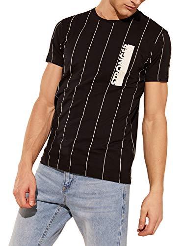 LC WAIKIKI - Camiseta de cuello redondo para hombre, diseño de rayas