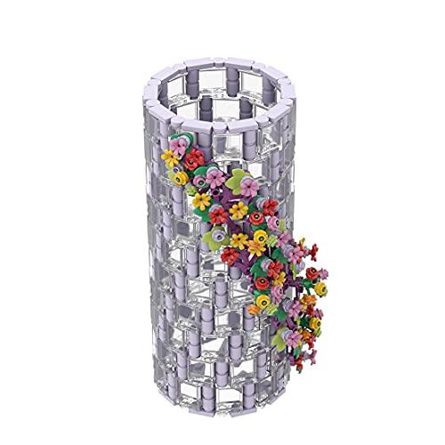 Xshion 473 bloques de construcción de jarrón translúcido, color morado compatible con LEGO 10280
