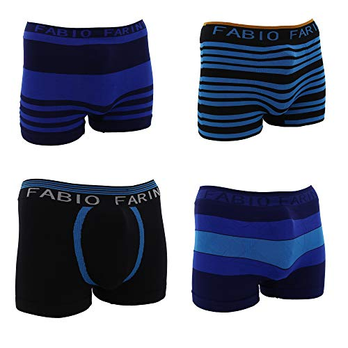 Fabio Farini 4er-Pack Seamless Herren Microfaser Boxershorts 1001710 Set 1 L