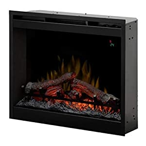 DIMPLEX Firebox DF2624L – 26″ Built-in Fireplace Eléctrico Negro – Chimenea (230 V, 50 Hz, 2000 W, 9 W, 2000 W, 694 mm)