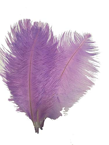 MELADY Pack of 50pcs Natural Ostrich Feathers Centerpieces 6-8inch(15-20cm) for Home Wedding Party Decoration (Lavender)