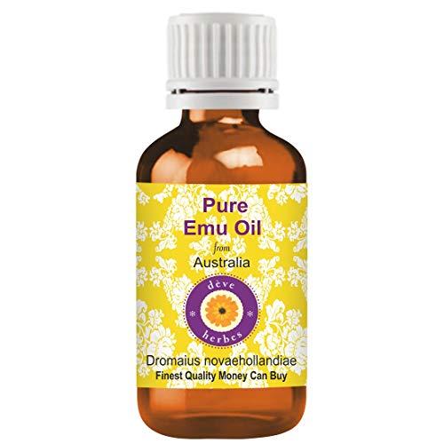 Huile d'émeu pure Deve Herbes (Dromaius novaehollandiae), qualité thérapeutique à 100% naturelle 30 ml (1.01 oz)