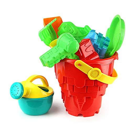 Kinder Sandspielzeug,Duschkopf, Sandrechen, Sandschaufel, Schloss,Set 6 Pcs Strandspielzeug Sand Und Wasser Spielzeug Für Jungen Und Mädchen
