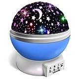 Veilleuse Enfant, Lampe Projecteur 360°Rotation Romantique,Veilleuse Bébé Étoiles, Lampes de Chevet Lampes d'ambiance(4...