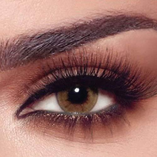 """Bella - 5 Paar Natürliche farbige Tageslinsen (stark deckend) ohne Stärke Farbe """"One Day Citrine Crystal"""