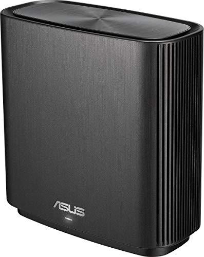 ASUS ZenWiFi-AC-CT8 - Sistema Wi-Fi Mesh Tri-Banda AC3000, cobertura de más de 225m2, AiProtection con TrendMicro de por vida, 4 puertos Gigabit, adaptive QoS, compatible con AiMesh, color negro