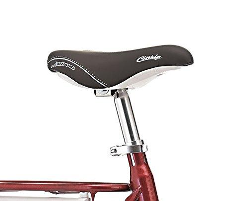 Cicli Cinzia Vélo 20'Pliable Firenze 6 Vitesses Revo Shift V-Brake Aluminium, Rouge/Blanc, Unisexe–Adulte