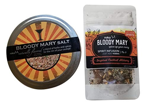 Rokz Bloody Mary Infusion and Bloody Mary Rimming Salt Combo Set