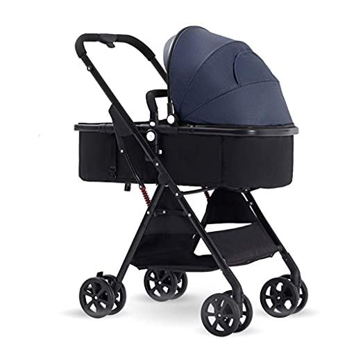 Cochecitos de cochecitos de visión Alta, cochecitos de Buggy compactos, Cochecito portátil para bebé Anti-Shock Add Soporte de Taza (Color: Azul) fengong (Color : Blue)