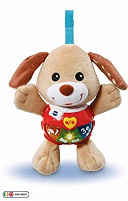 Vtech 502303 Little Singing Puppy Educational Baby, Clip On Cot, Pushchair and Pram, Soothing Soft Interactive Toy, for 3, 6, 12 Months Boys and Girls by Vtech