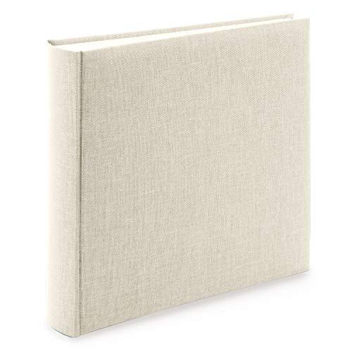 goldbuch 31605 Fotoalbum Summertime Trend 2, Fotobuch mit 100 weißen Seiten mit Pergamin Trennblätter, Foto Album mit Leinen Einband, bis zu 600 Bilder, Hochwertiges Papier, Beige, 30 x 31 cm