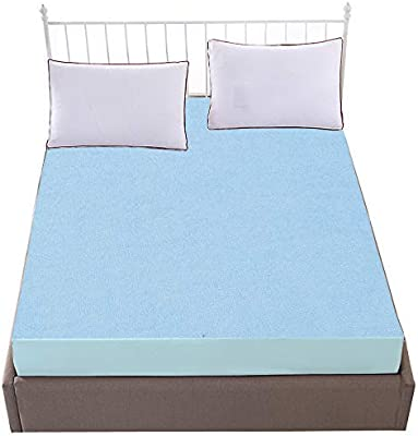 """Dream Care Terrycloth Waterproof Mattress Protector for King Size Bed (Sky Blue, 78""""X72"""")"""