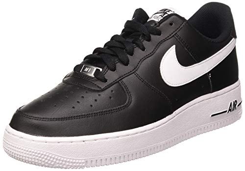 Nike Herren AIR Force 1 '07 AN20 Basketballschuh, Black White, 44.5 EU