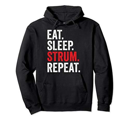 Eat Sleep Strum Repeat Ukulele Lover Pullover Hoodie