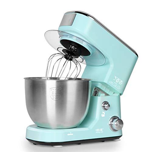 Mélangeur debout en acier inoxydable multifonction de cuisine domestique multifonction Petit mélangeur automatique de batteur à oeufs/pâte (Couleur : Bleu, taille : 33.9 * 22.7 * 32.2cm)