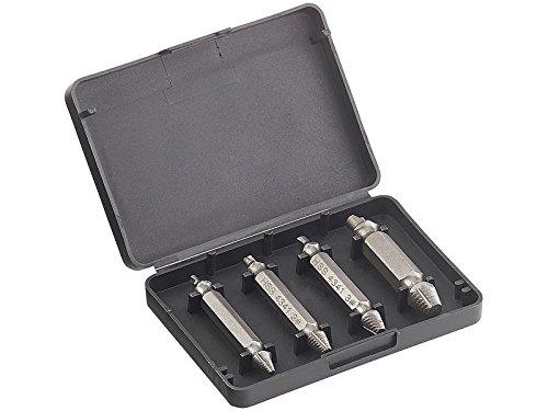 AGT Professional 4-tlg. Schrauben-Ausdreher-Set aus HSS-Stahl für beschädigte Schrauben