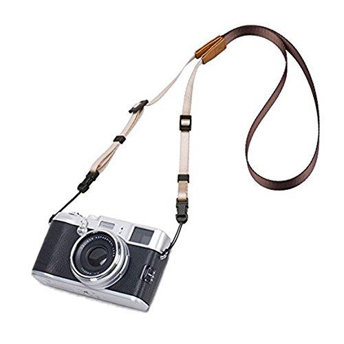 Eorefo Kameragurt Vintage Kamera Schultergurt HalsTragegurt für DSLR Kamera,Braun.