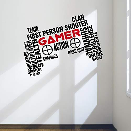 Arte de la pared videojugador profesional TecGadgets mando para juegos dormitorio Man...