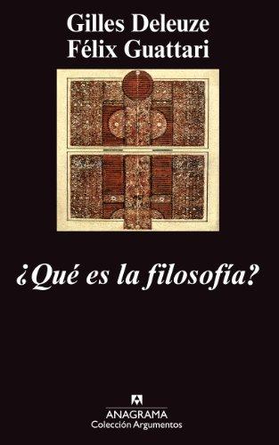 ¿Qué es la filosofía? (Argumentos)