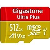 【5年保証 】Gigastone 512GB マイクロSDカード A1 V30 Ultra HD 4K ビデオ録画 高速4Kゲーム Nintendo Switch 動作確認済 100MB/s マイクロ SDXC UHS-I U3 C10 Class 10 メモリーカード SD 変換アダプタ付