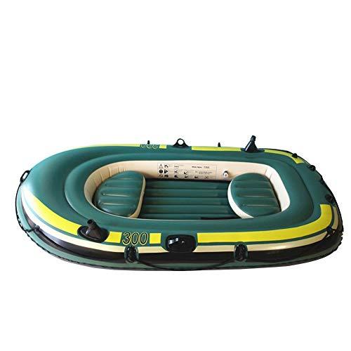 wenhe - Conjunto de barco hinchable, Kayak hinchable, Kayak de pesca resistente, barco de pesca hinchable, barco neumático, barco para niños, conjunto de canoa para 3 personas