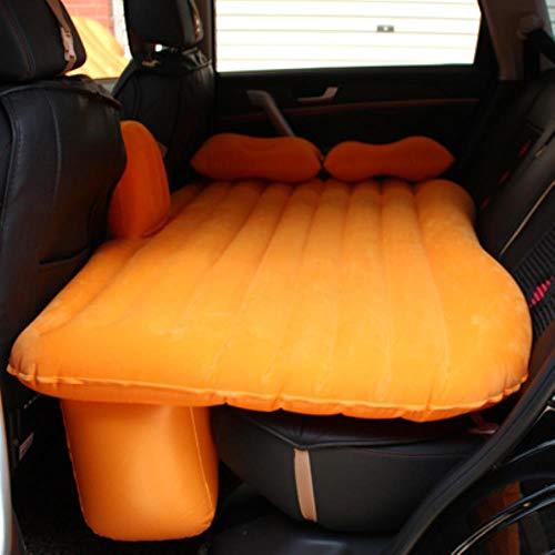 Clkdasjd Auto Rear Reihe Universal Erwachsene Luftbett Luftmatratze Orange