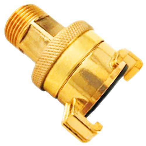 SCHNELLKUPPLUNG mit Außengewinde und Kontermutter Hochdruckkupplung Messing System Geka (1 Zoll AG (außen ca.33mm))