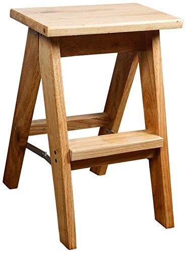 HAHEZDY Massivholz Klappstuhl Multifunktions Trittleiter Treppenstühle Erweiterte Sicherheit Tragbare,26X32X50 cm