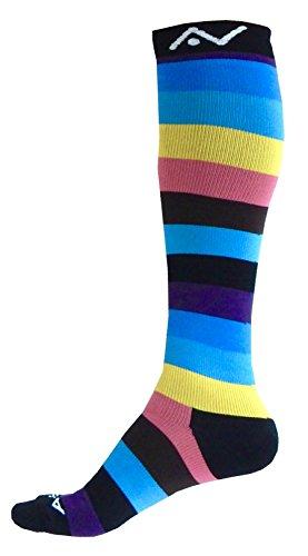 A-Swift, calcetines de compresión (1par) para mujer y hombre–Ajuste atlético graduado para carreras, para enfermeras, para viajes en avión, esquí y premamás.Aumenta la resistencia y la recuperación.