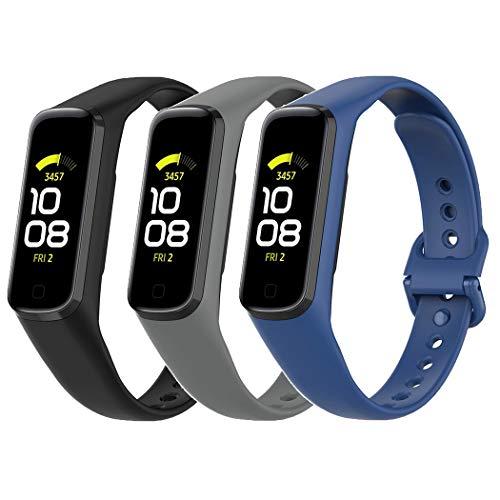 Baaletc Bandas compatibles con Samsung Galaxy Fit 2 SM-R 220, Correas de Repuesto de Silicona Suave para Samsung Galaxy Fit 2 R220