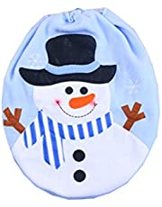 OULII Snowman Toilet Seat Cover for Bathroom Christmas Toilet Decoration Christmas Home Decorations Supplies