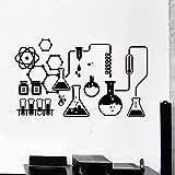 Wissenschaft Chemie Labor Vinyl Wandaufkleber Wissenschaftler Kinder Chemie Schule Klassenzimmer...