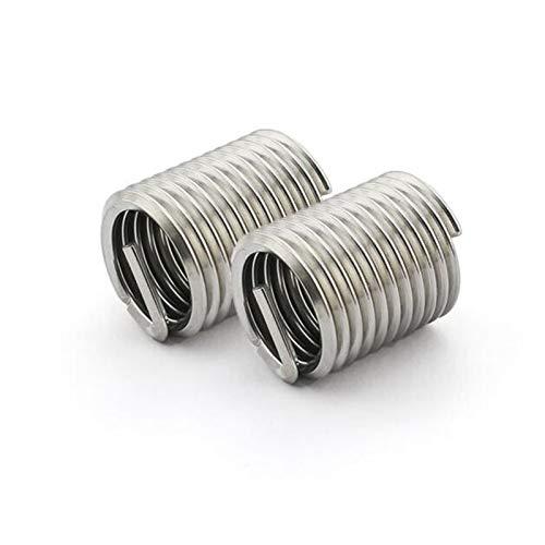 Inserción roscada 20pcs M20 * 2.5 * Inserto de hilo de alambre 3D 304 Buje de tornillo M20 de acero inoxidable, M20 * Tornillo de alambre 3D Hilo de manguito Inserción de reparación Suministros de bri