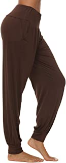 AvaCostume Women's Loose Yoga Harem Workout Pants with Pockets