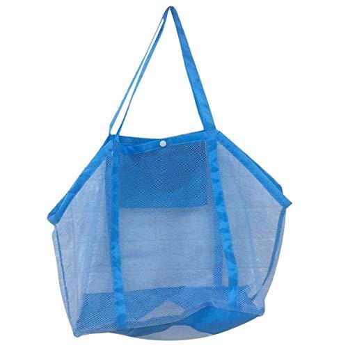 Toyvian Bolsas de almacenaje de juguetes de baño al aire libre con bolsa de malla grande en la playa para los juguetes de los niños (Azul oscuro y azul claro al azar)