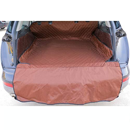 Auto huisdier mat, huisdier kofferbak mat, waterdicht en antislip Oxford doek auto mat hond reiskussen voor alle auto's,Brown,L
