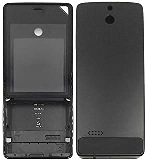 Cell phone Replacement Part Full Housing Cover (Front Cover + Battery Back Cover) for For Nokia 515(Black) (Color : Black)