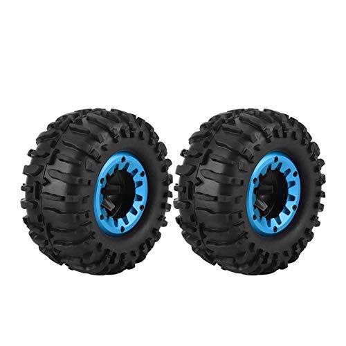 Emoshayoga ZD Racing Buggy Crawler Car 1/10 RC Bigfoot Truck Neumático de Goma Rueda Neumático Robusto para Juegos Deportivos al Aire Libre para niños Juguetes para niños Regalo(Blue)